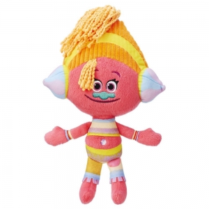 Плюшена играчка DreamWorks, Trolls Orange DJ Suki, 13 Х 30 см